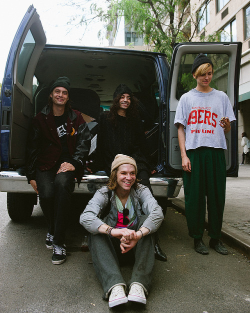 DIIV, after their KEXP session from our CMJ broadcast in NYC.photo credit: Lauren Slusher more photos from this session on the KEXP Blog.