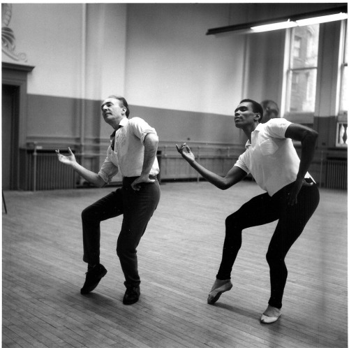 dancehistory:  George Balanchine and Arthur Mitchell