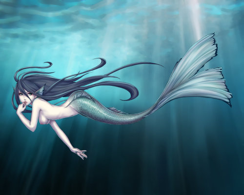a-siren-song:  Commission -Mermaid by *nipuni