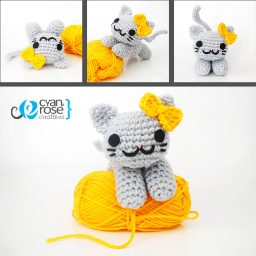 deliciouskaek:  cyanrosecreations:  Alice, an adorable amigurumi cat You can buy it here: www.etsy.com/listing/112532233/alice-an-adorable-amigurumi-cat-crochet  D:!!!