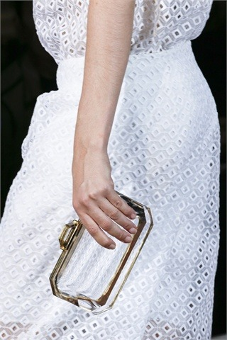 Catwalk's Trend: See-through.  Clear box clutch @ Stella McCartney RTW S/S 2013