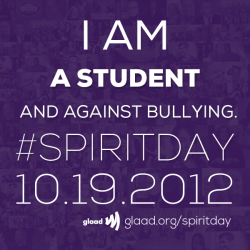 #SpiritDay: Are you against bullying?Check out our Facebook album of great graphics you can share to show your support for Spirit Day!