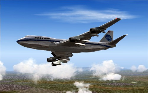 Pan Am 747-200 en-route to Tokyo. (Microsoft Flight Simulator 2004 + Ready For Pushback 747-200)