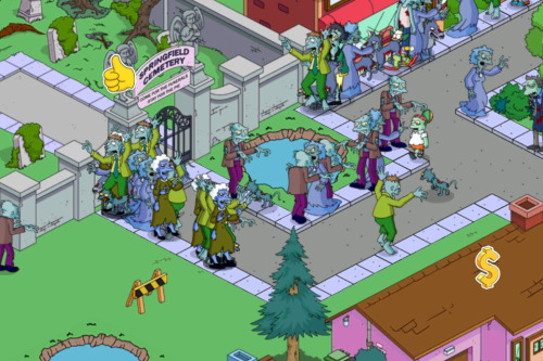 scratching:  This is the most amount of zombies I can get in The Simpsons : Tappped Out.