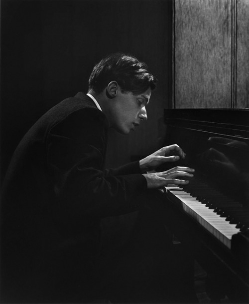 """I believe in God — Bach's God.""  Glenn Gould (photo by Yousuf Karsh, 1957)"