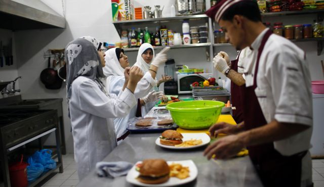 haaretz:  A restaurant run and staffed by deaf people opened for business in the Gaza Strip on Tuesday, helped by Palestinians seeking to build a more inclusive society where people with disabilities can realize their full potential. Waiters and cooks use sign language, guests point to selections from the menu and what ensues is a spontaneous form of communication that organizers hope will break down bias and barriers. Read more.