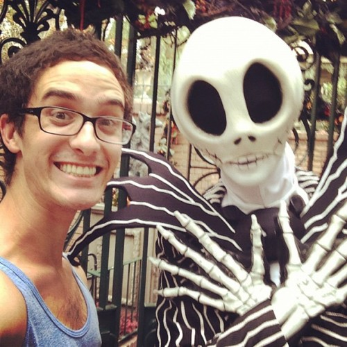 #Me and #Jack #skeleton #Disneyland #halloween #nightmare #before #christmas