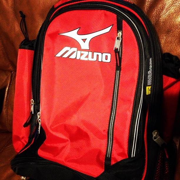Uhhhhh, my volleyball backpack came in 😍 #volleyball #mizuno