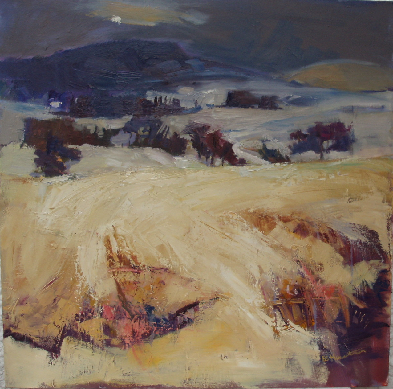 easelontheeye:  Loch Doon Landscape by Bridget Hunter (2010)http://bridgethunter.blogspot.co.uk/