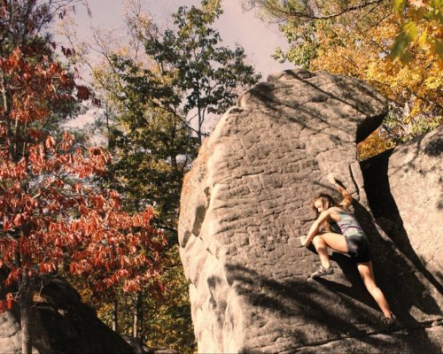 peakedcuriosity:  my all-time favorite climbing photo of myself. taken two years ago