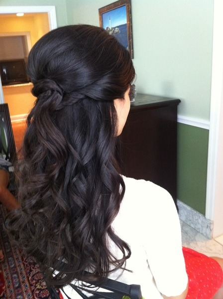 beautylish:  Gorgeous half-up, half-down hairstyle by Cali M.!