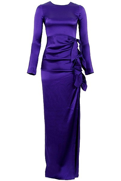 GRYPHON NY Knotty Maxi Dress In Purple by GRYPHON NY