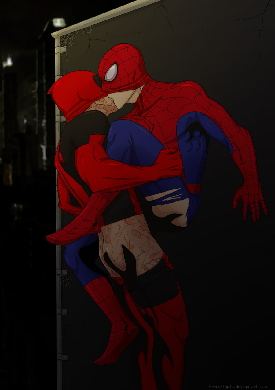 acaciajules:  even more spideypool by ~HercsNipple