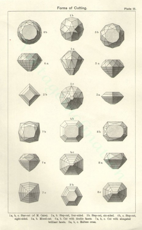 (via Gemstone cutting chart (1896). « Present&Correct)