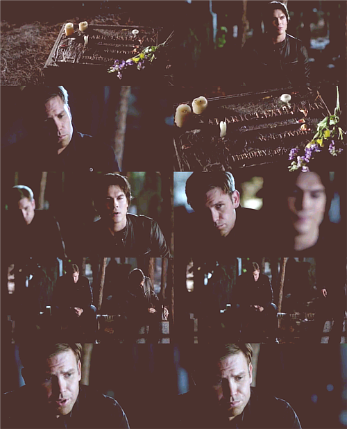 "Damon x Alaric ""I miss you too buddy."""