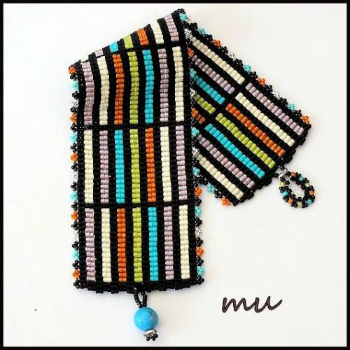 Very striking bracelet by Mu. Great colors.