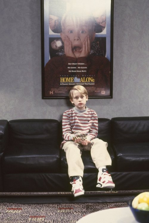 Throwback: Macaulay Culkin wearing Air Jordan 6s.