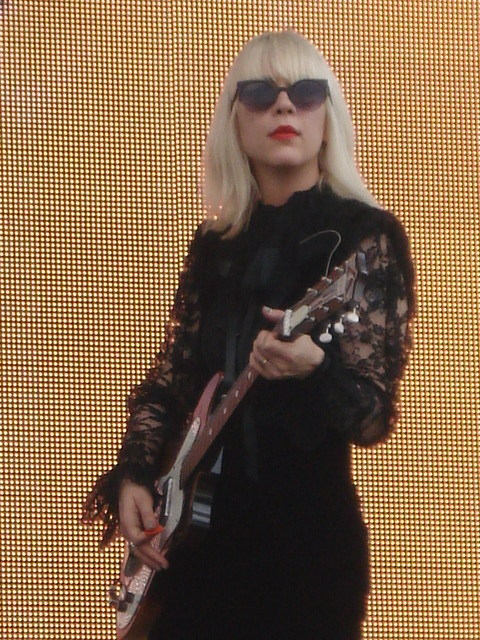 Dee Dee Penny from The Dum Dum Girls @ the Festival Corona Capital in Mexico City