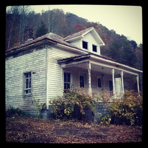Today's shoot location. Creepy old house.