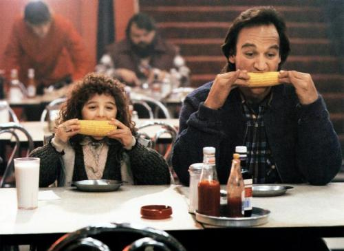 "Curly Sue (1991) James Belushi & Alisan Porter - Tagline ""A funny story about a family… And the little girl who started it."" http://www.pickoftheflicks.com"