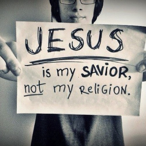 jarridwilson:  Jesus is my Savior, not my religion. http://dccook.co/FreeEbookleaveitochance