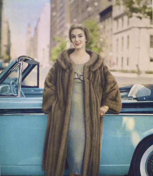 ifiwereartemis:  Vintage Fur II, Scanned from a 1952 Vogue