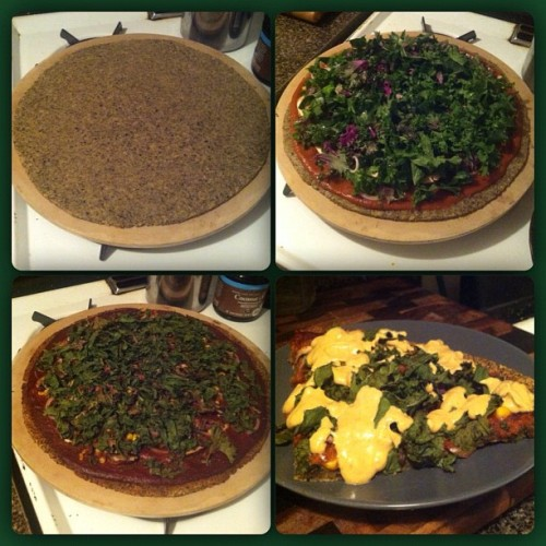 redhel:  Moar pizzaaaa. (Wild rice & yellow split pea crust. Lots and lots of kale.)