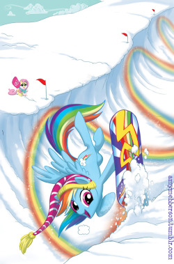 Rainbow Dashboard - MLP variant cover for Hastings comics. yay.