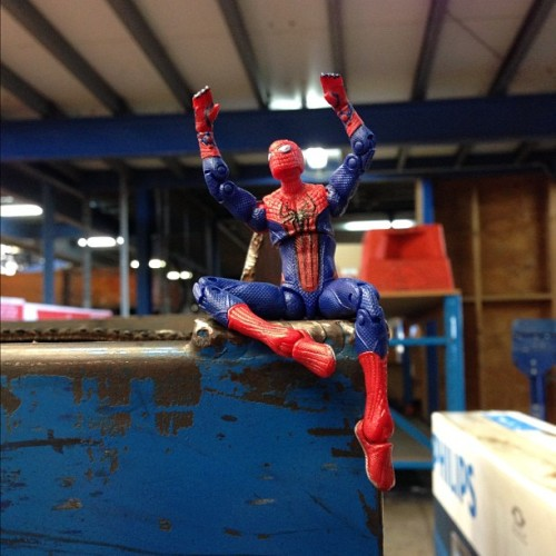 spidey is psyched it's almost the weekend! #tgif #spiderman #toycrewbuddies #toyphotography #weekend #love #friday