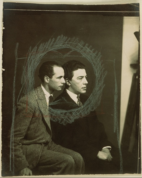 "kvetchlandia:  Man Ray       Louis Aragon and André Breton      1925 ""Light is meaningful only in relation to darkness, and truth presupposes error. It is these mingled opposites which people our life, which make it pungent, intoxicating. We only exist in terms of this conflict, in the zone where black and white clash."" Louis Aragon, ""Paris Peasant""  1926 """"The clouds were disappearing rapidly, leaving the stars to die. The night dried up."" André Breton, ""The Magnetic Fields""  1920"