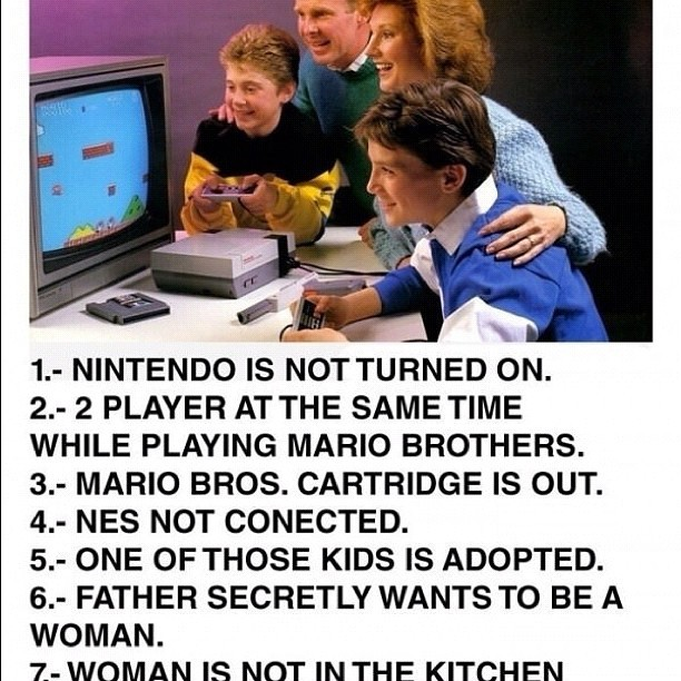 What's wrong with this pic? #gaming #videogames #nes #nintendo #mario #family #facts