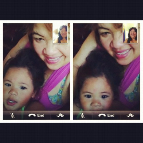 #facetiming with #twinsister and #babykhloe #ilovethem #beautifulgirl #prettyface #photooftheday  #iphoneonly #familyfirst