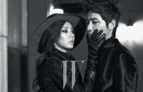 W Korea Models Kang Ji Hwan & Son Dambi September 2012