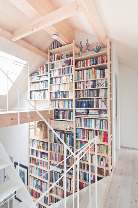 myidealhome:  books all over (via Pics of Creative Wings)