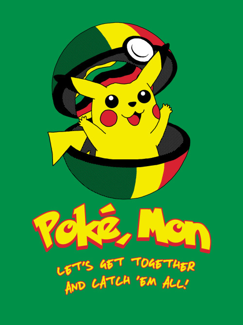 """Poke, Mon"" by GhostGlide Available at Redbubble: http://www.redbubble.com/people/ghostglide/works/9482629-poke-mon"