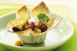 Black Bean and Corn Wonton Cups Recipe by Betty Crocker Recipes on Flickr.