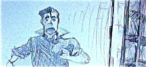 Drawing I just whipped out on a whim.  Bolin's first look into the TARDIS cuz who doesn't like a good Doctor Who crossover?