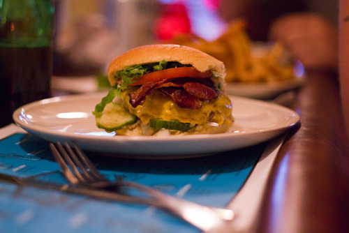 02 Bacon Cheese Burger - The Commodore by jasonlam on Flickr.