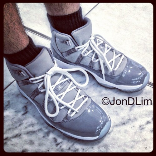 It's a #coolgrey kinda day. #airjordan #XI #solematesmelb #igsneakercommunity