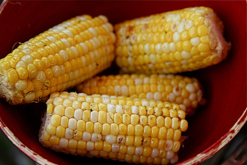 Grilled corn on the cob.