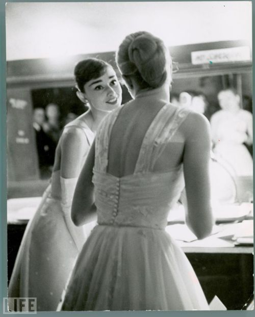 Audrey Hepburn with Grace Kelly