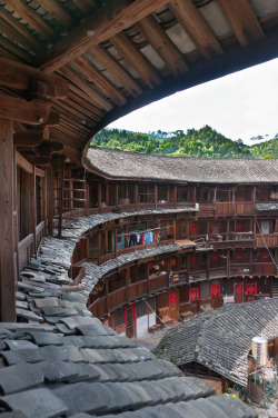 "bassman5911:  Hakka village (by MadGrin) A Hakka walled village is a large multi-family communal living structure that is designed to be easily defensible. This building style is unique to the Hakka people found in southern China (Hakka is ""Kè-jiā"" 客家 in Chinese). Walled villages are typically designed for defensive purposes and consist of one entrance and no windows at the ground level."
