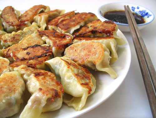 fattributes:  Pork, Shrimp, and Shiitake Mushroom Potstickers