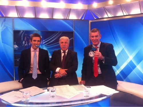 Yesterday, Sky Sports presenters Alex Payne, Stuart Barnes and Dean Ryan showed their support for 'The Blue' while filming the latest edition of The Rugby Club. 'The Blue' mouthguard is a symbol of rugby's fight against prostate cancer, the most common cancer among men. Keep an eye out for pro players wearing 'The Blue' this season. The campaign has been backed by the likes of Ugo Monye, Danny Care, James Haskell, Joe Simpson, Schalk Brits, Charlie Hodgson and Andy Saull. You can get your Blue Mouthguard from www.opro.com and do your bit to raise funds and awareness to fight prostate cancer. Opro will donate £1 from the sale of each mouthguard bought to Prostate Cancer UK