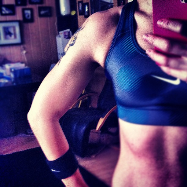 #bodyrock day3 ✔ #fit #fitspo #arm #progress #nike #shoulder #motivation #keepgoing (at Janee's Training)