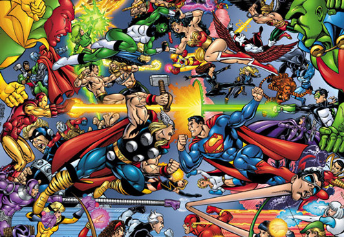 Warner lines up Justice League to go head-to-head with Avengers 2 Warner Bros has taken an aggressive step in re-establishing its stable of on-screen superheroes, by aiming to launch its Justice League film in the same year as Marvel's The Avengers 2…