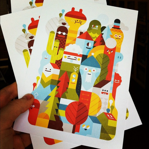 Woo, prints arrived! We will probably sell them in our webshop for a few euros soon. by LouLou - LouLouAndTummie.com - on Flickr.