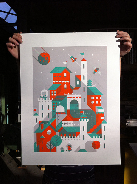 Screenprint by LouLou - LouLouAndTummie.com - on Flickr.