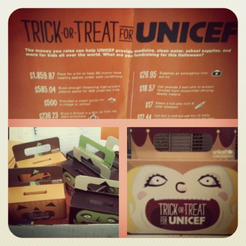 Doing our part at CMMS this Halloween 🎃 #cmms #unicef #trickortreat #halloween #zerohero #charity #njhs #nhs #sparesomechange #forchildren!