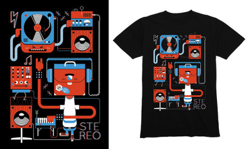TeeFury Stereo Shirt by LouLou - LouLouAndTummie.com - on Flickr.